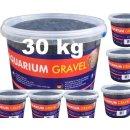 Farbkies Schwarz Aquarium Bodengrund 30 KG (6 x 5kg) im...